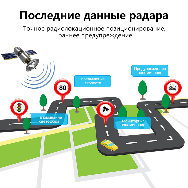 Image 3 - Jansite Radar Detector Mirror 3 in 1 Dash Cam DVR recorder with antiradar GPS tracker Speed detection for Russia Rear camera-in DVR/Dash Camera from Automobiles & Motorcycles