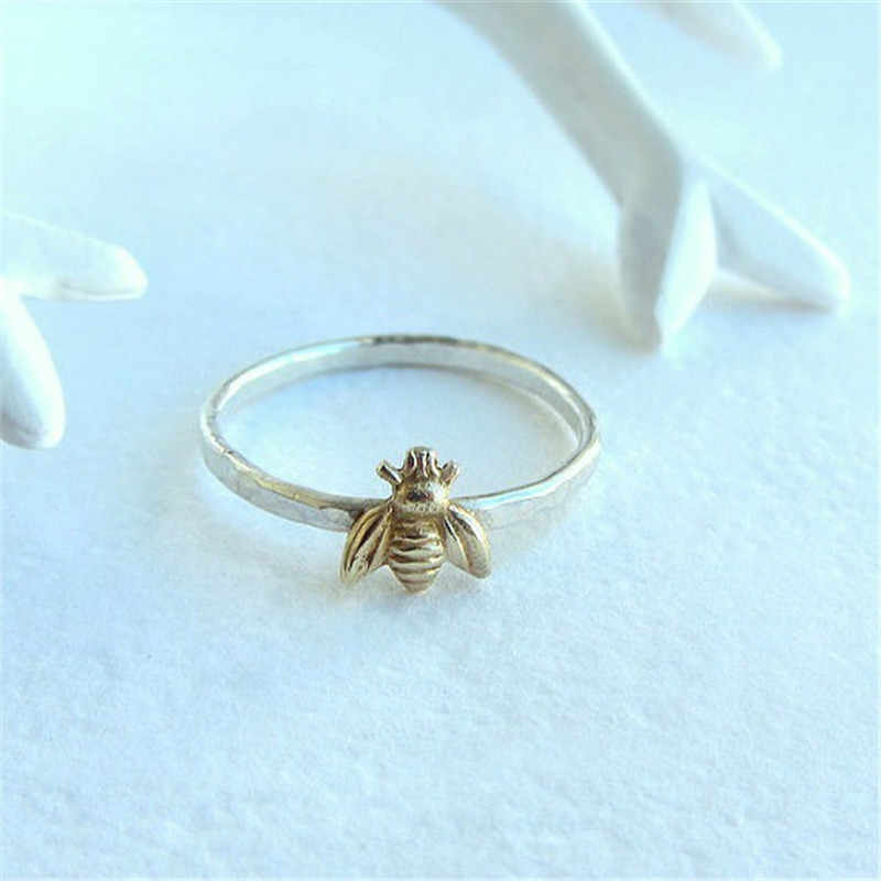 2018 1 Pcs פשוט עלה זהב Knuckle טבעת לנקבה דבורה טבעות לנשים תכשיטי לערום טבעת חתונת הבטחת טבעות גבירותיי מתנות
