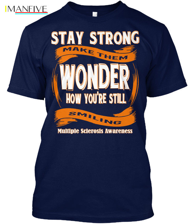 Multiple Sclerosis Awareness Popular Tagless Tee T Shirt in T Shirts from Men 39 s Clothing