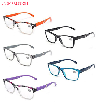 5 unidades De Gafas De Lectura rectangulares De calidad con montura completa...