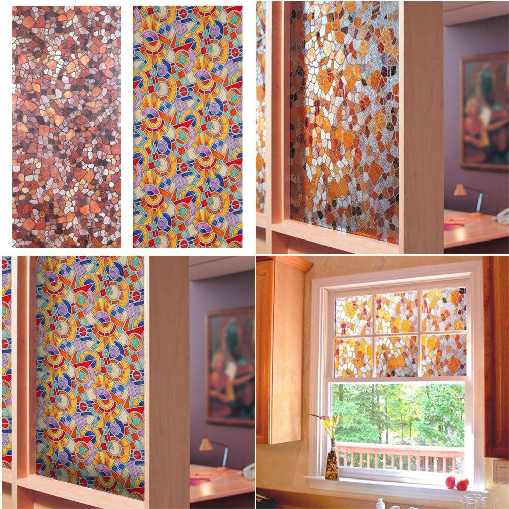 Privatsphäre Fenster folie Dekorative färben matt glasmalerei film