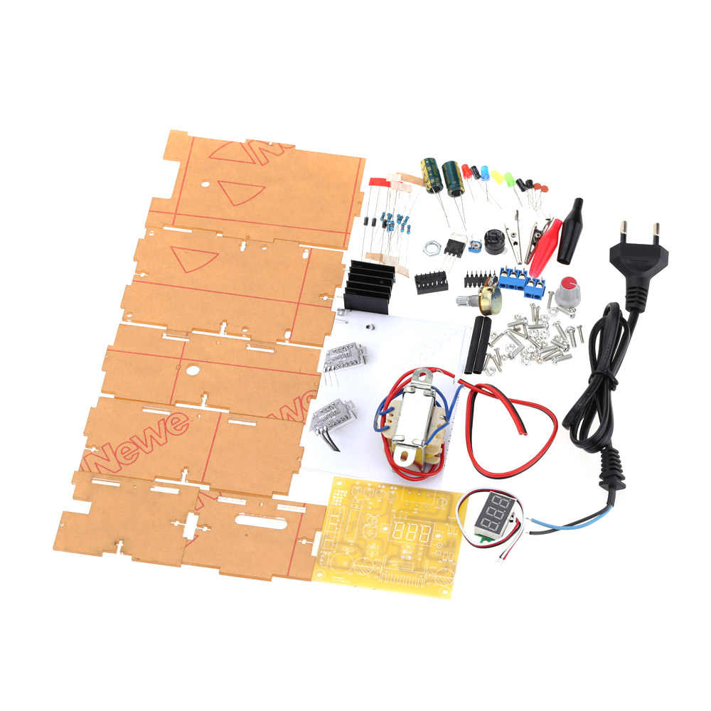 LM317 1,25 V-12 V с плавной регулировкой регулятор напряжения Питание DIY Kit ЕС