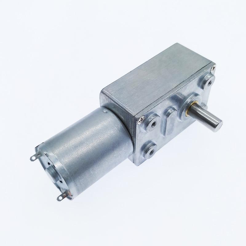wifehelper 12V DC Geared Motor Metal Gear High Torque Turbine Turbo Worm Reduction Motor for Electrical Appliances 2-100RPM