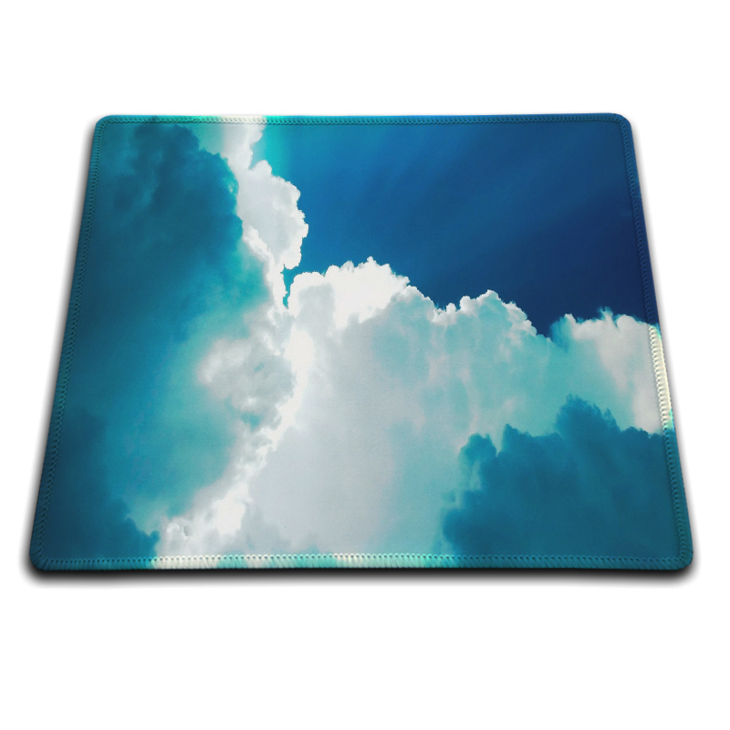 MaiYaCa Blue Sky And White Clouds Mouse Pad Fashion Computer Notebook Gaming Mice Mat 18*22cm and 25*29cm Lock Mouse Pad