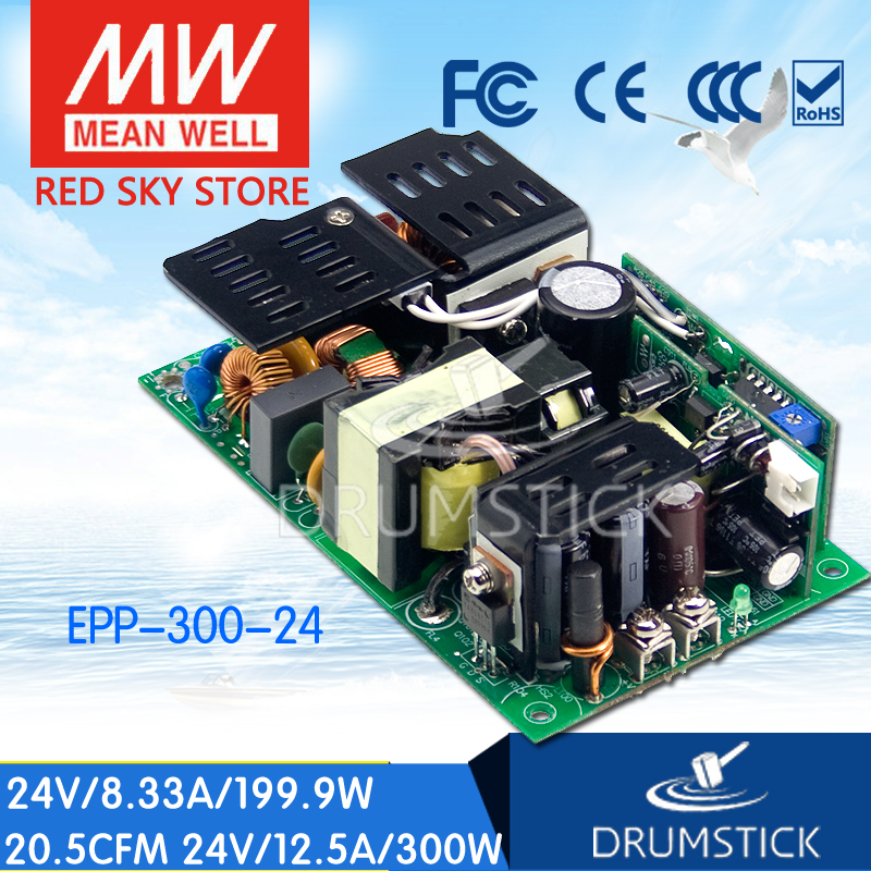 100% Original MEAN WELL EPP-300-24 24V 12.5A meanwell EPP-300 24V 300W Single Output with PFC Function [Hot6] [sumger2] mean well original epp 150 48 48v 2 1a meanwell epp 150 48v 100 8w single output with pfc function