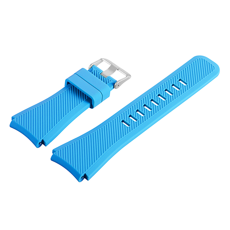 Watch accessories green watch strap buckle silicone watches band 17mm 19mm silicone strap light blue