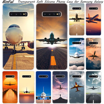 Hot Airplane Departure Soft Silicone Case For Samsung Galaxy S10 S9 S8 Plus S7 Edge A6 A8 Plus A7 A9 2018 A5 2017 Fashion Cover image