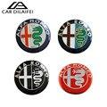 2015 venda Quente 2 pcs 74mm Logo emblema frontal Do Carro ALFA ROMEO adesivo Emblema traseiro para Aranha Giulietta Mito 147 156 159 166 GT