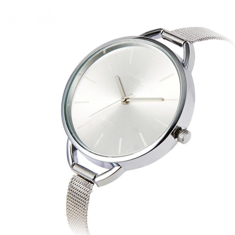 Weman Simple Design Slim Sliver Mesh Stainless Steel Watches Women Luxury Brand Quartz Watch Ladies Wristwatch Fashion Clock vapeberry slim steel
