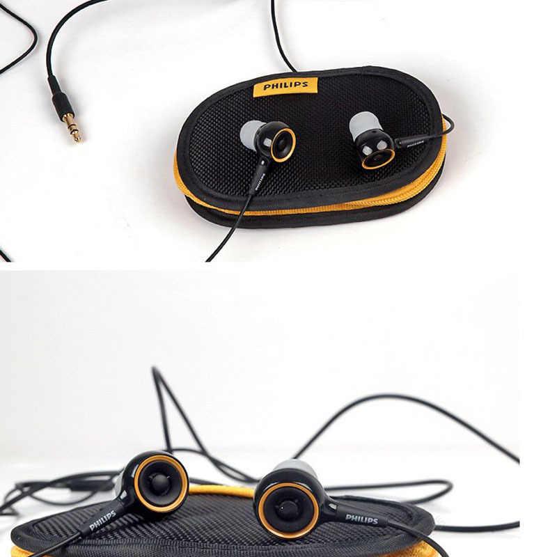 100% oryginalne Philips SHE6000 słuchawka sportowa zestaw słuchawkowy słuchawki douszne do biegania Earpads dla xiaomi Samsung oficjalny certyfikat