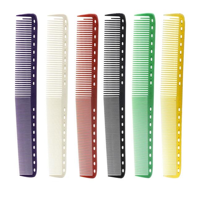 23 cm 6 colores disponibles para peluquería de Japón peine de peluquería profesional peine para peluquería de resina duradera peine de corte de pelo 6 unids/lote