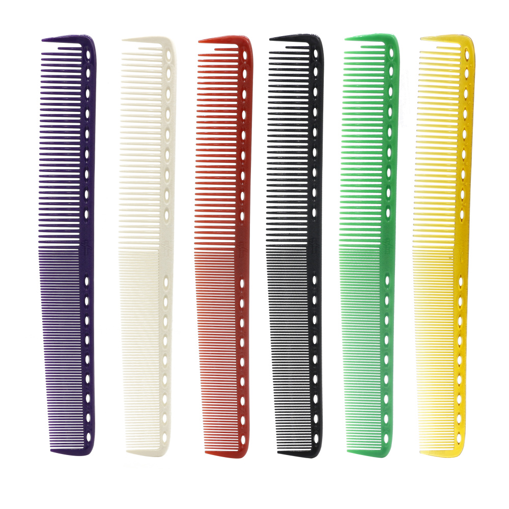 23cm 6 Colors Available Japan Hairdressing Cut Comb Professional Barber Comb For Hairstyling Durable Resin Haircut Comb 6PCS/Lot