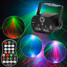 DJ Disco Effect RGB LED Party Stage Light with Remote Controller Built-in Battery 100-240V for Party LED Light(China)