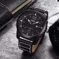 2017 mens relógios militar quartz sports relógio de pulso ohsen casuais marca de luxo pulseira de couro relógio masculino relógio relogio masculino