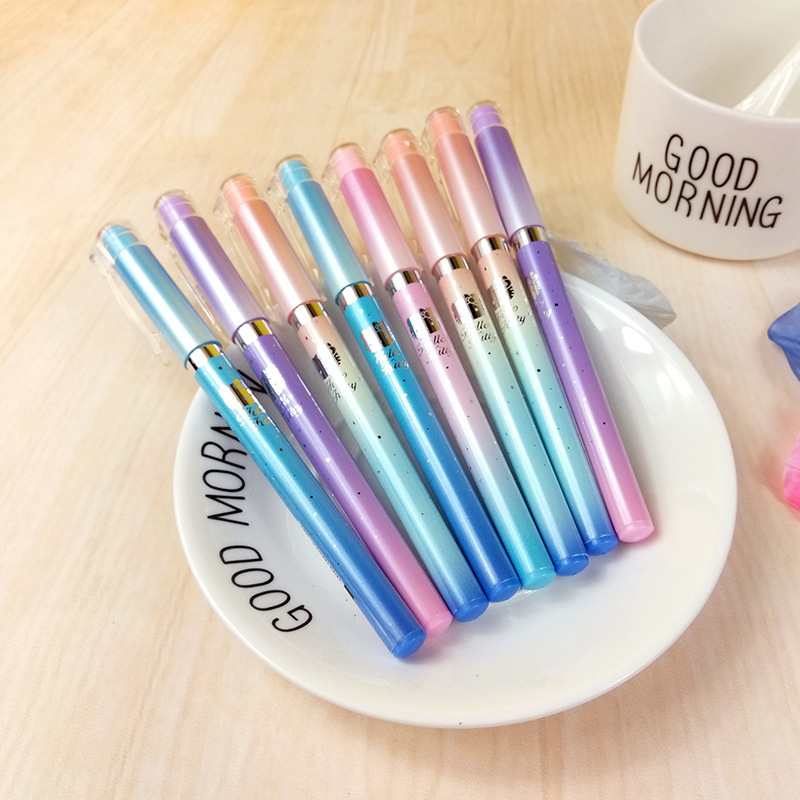 3X Kawaii Pastel Hello Kitty Kitten Gel Pen School Office Supply Student Stationery Kids Gifts Black Ink 0.5mm Writing Pen