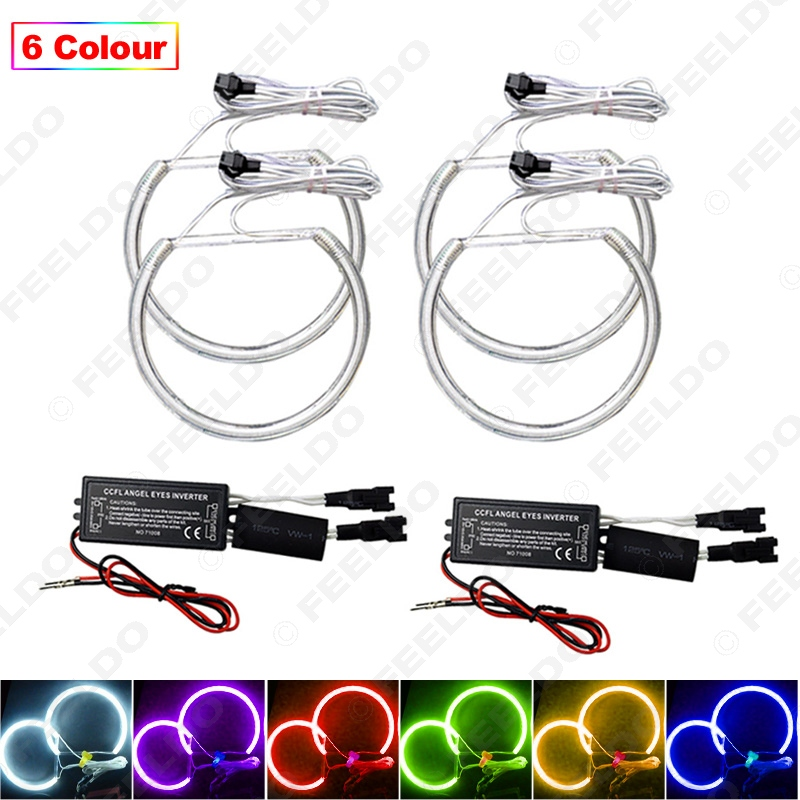 4Pcs set 6 Color Car CCFL Halo Rings Angel Eyes LED Headlights for BMW E32 E34