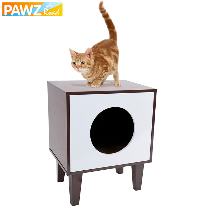 Cat Bed With Detachable Cushion Wood Climbing And Jumping Frame Pet Kitten Puppy House Durable High Quality Cat Furniture Supply
