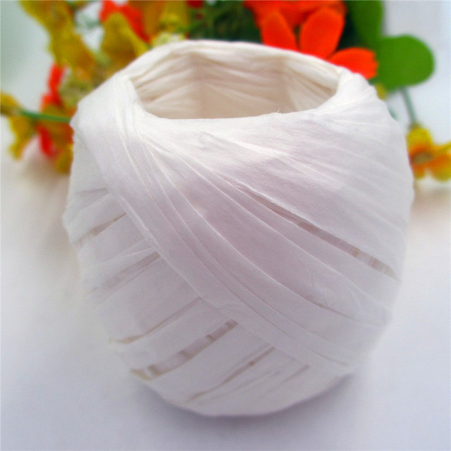 Diy White Raffia Ribbon Cord Rope For Gift Box Wrap Party Decorations