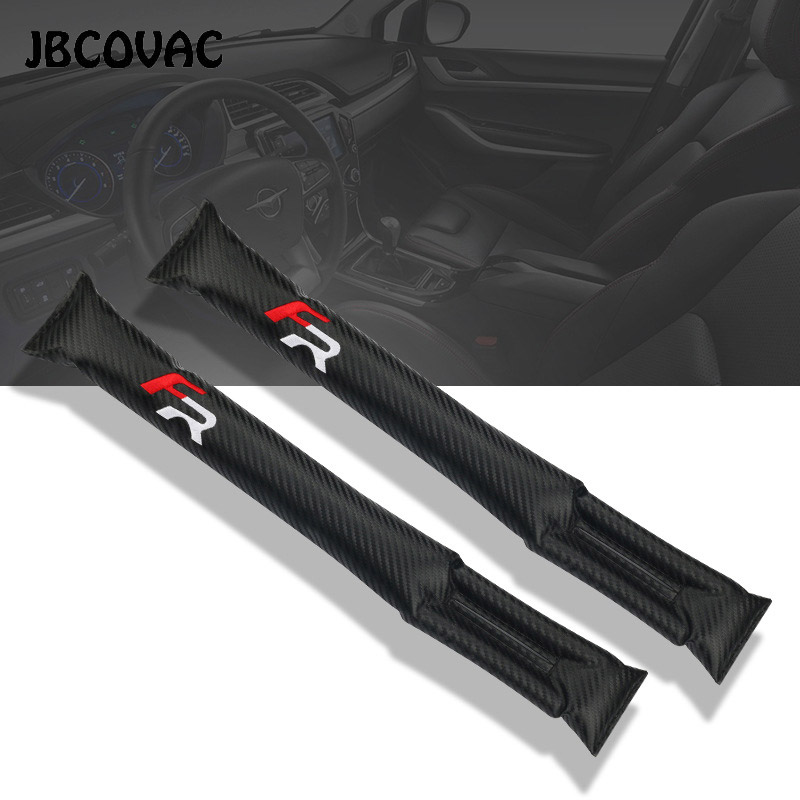 Car Styling Auto Leak Proof Seat Gap Protective Pad Fillers Leakproof Cover Case For Seat FR+ Leon Ibiza Racing Accessories 2pcs
