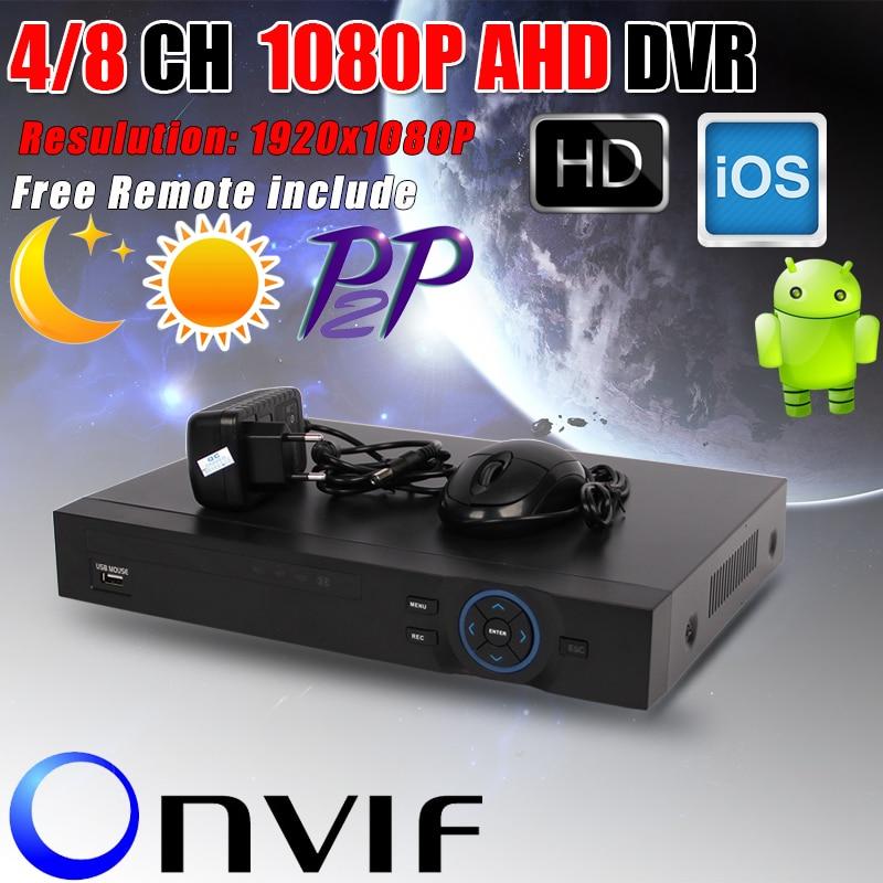 New Metal1080P AHD DVR Support AHD H 1080P camera 1920x1080 Resulution AHDH DVR 4CH 8CH 1080P