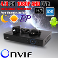 Новый Metal1080P ахд DVR поддержка AHD-H 1080 P камера 1920 x 1080 Resulution AHDH DVR 4CH / 8CH 1080 P 4CH 5MP 4/8 канала AHDH DVR / NVR