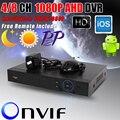 Nueva Metal1080P AHD DVR soporte AHD-H 1080 P cámara 1920 x 1080 Resulution AHDH DVR 4CH / 8CH 1080 P 4CH 5MP 4/8 canales AHDH DVR / NVR