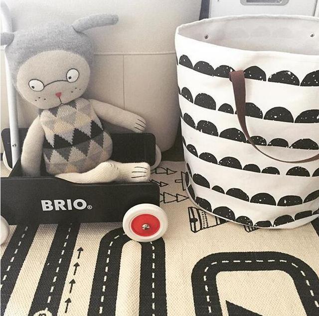 Cesta de lavandería solo para decoración de habitación de niños juguetes limpiados puede soportar bolsa de almacenamiento de lona con Cojinete superior de 1,5 kg