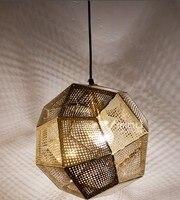 Современный дизайн Etch веб Открытый Подвесные Светильники для Спальня Кухня кулон Лампы для мотоциклов E27 Подвеска светильник Lampara Винтаж до
