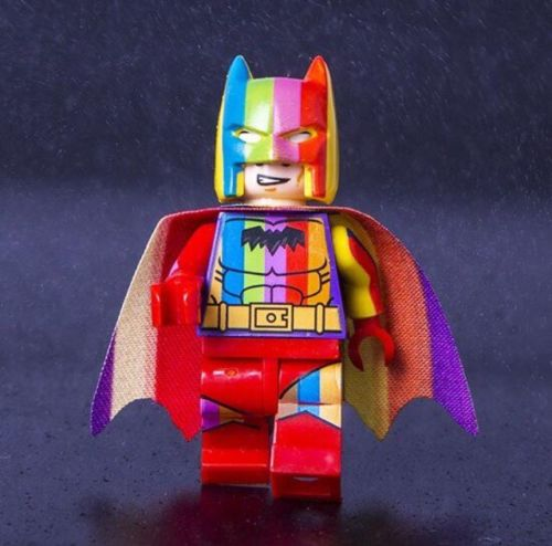 Decool Rainbow Batman Single Sale Building block brick Toy Fit for Lego lele superheroes movie for minifigure SY military полотенца lego пончо dc superheroes