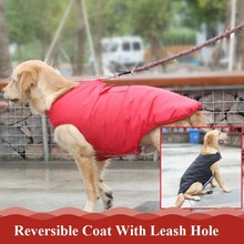New Faux Leather Dog Coat Detachable dogs Jacket Clothes Warm tracksuits Cats Coats Dog Overalls