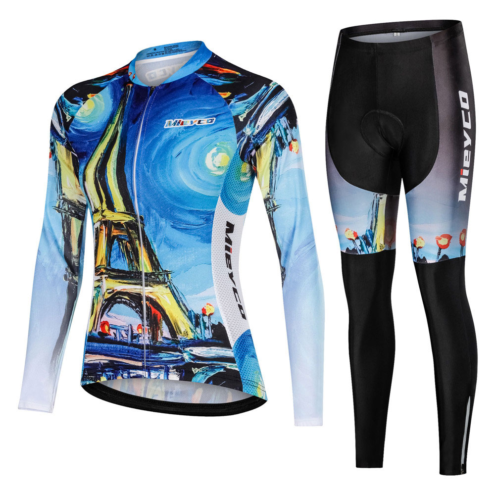 2019 Pro Cycling Clothing <font><b>Bike</b></font> uniform Autumn Female Long Cycling Jersey Set Road Bicycle Jerseys MTB Bicycle <font><b>Wear</b></font> Cycling Set image