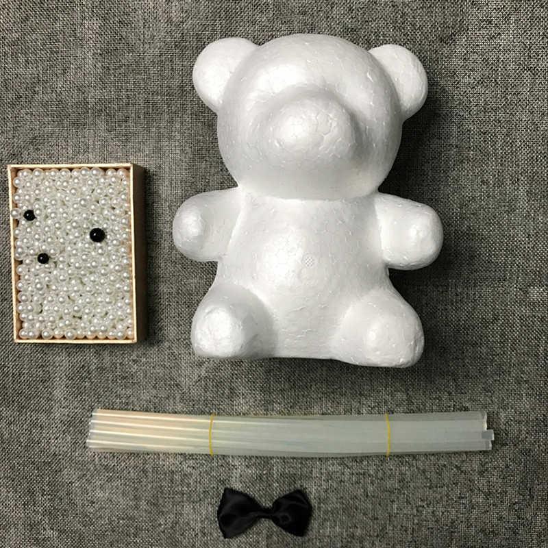 DIY מתנה ליום האהבה קצף דוב עובש מזל כלב עובש מלאכותי חיקוי פניני דוב עובש חתונה עיצוב הבית