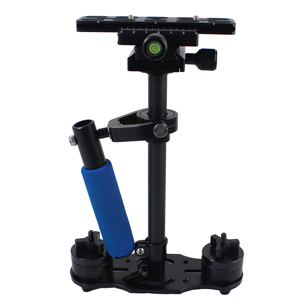S40 Mini Portable Carbon Fiber Handheld Video Steadicam Stabilizer for Canon Nikon Sony Panasonic Pentax Digital SLR DSLR Camera