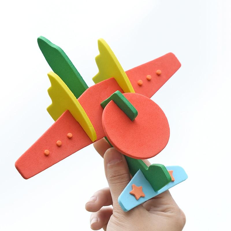1 шт. 2018 DIY самолет 3d Puzzle игрушки EVA собрать Смешно самолет образовательных подарок для детей стилей случайном порядке