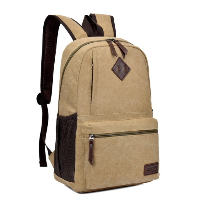 US $25.5 |Rock Wind Men Canvas Bag Backpack