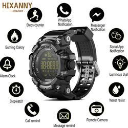 Hixanny 2019 Часы Bluetooth EX16 Смарт-часы уведомления удаленного Управление шагомер спортивные часы IP67 Водонепроницаемый Для мужчин наручные часы