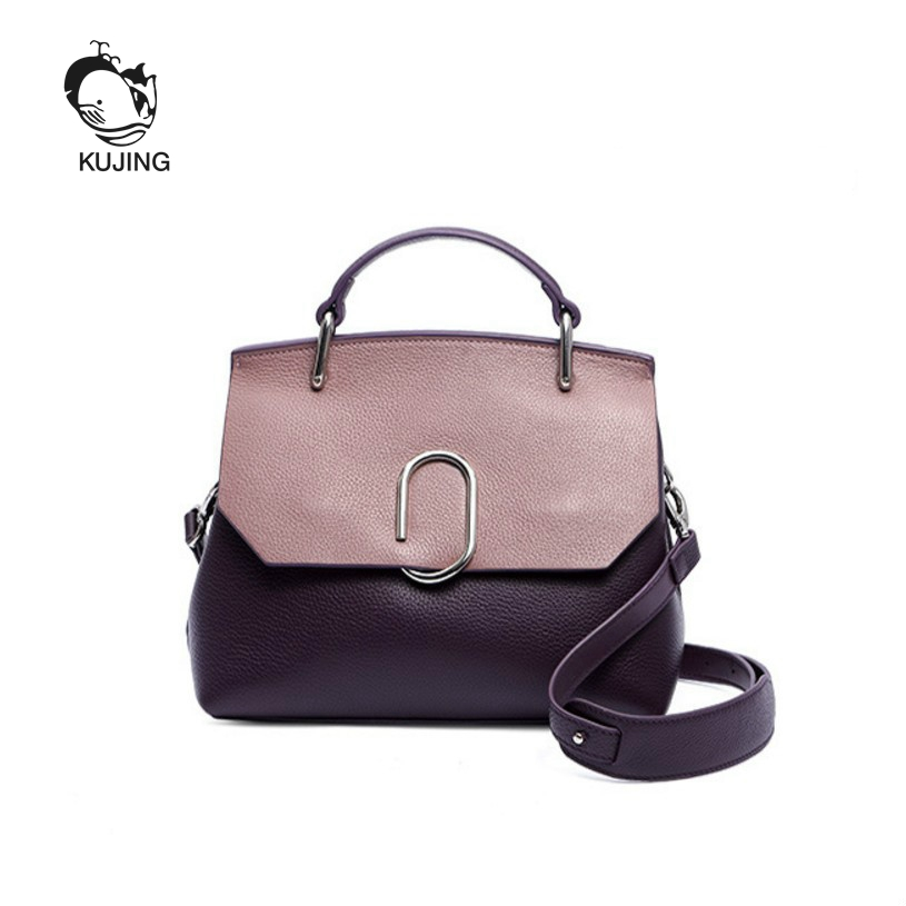 KUJING Fashion Leather Handbags Senior Costume Designer Design Women Business Cowhide Handbag Cheap Women Shoulder Messenger Bag бронзатор by terry сыворотка бронзатор terrybly densiliss® sun glow 03 цвет 03 sun bronze variant hex name bd795b