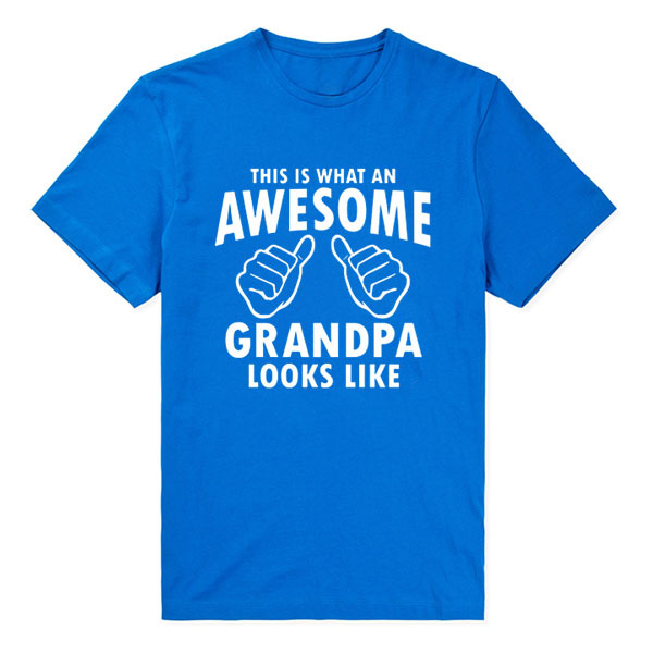 a74b2ad8 This Is What An Awesome Grandpa Looks Like Funny T Shirt Man Fitness Father's  Day Birthday Gift Present Men T-shirt Cool Tee Top
