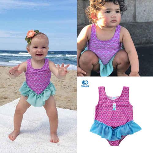 33da41ab9a ... Lovely Mermaid Swimsuit Cute Girls' Bikini Newborn Toddler Baby Girl  Swimming Costume Swimsuit Beach Tutu