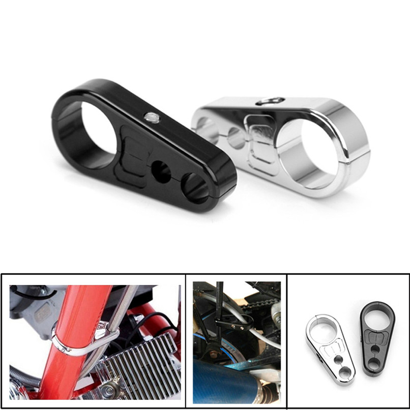 Chrome Alloy Brake Clutch Cable Wire Clamp Clip For 1\' 25mm Bar ...