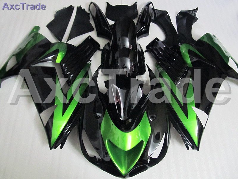 High Quality ABS Plastic For Kawasaki Ninja ZX14R ZX-14R ZZ-R1400 ZZR1400 2006 2007 2008 2009 2010 2011 Moto Custom Made C555 black moto fairing kit for kawasaki ninja zx14r zx 14r zz r1400 zzr1400 2006 2007 2008 2009 2010 2011 fairings custom made c549