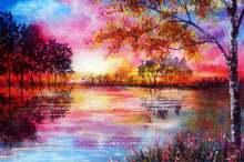 5d diy Алмазная картина лесной пейзаж вышивка Пейзаж Вышивка
