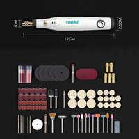 18 v ferramentas elétricas mini broca elétrica com 0.3-3.2 com acessórios de moagem conjunto multifunções mini gravura caneta para ferramentas dremel