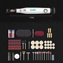 Herramientas Eléctricas de 18V Mini taladro eléctrico con 0,3-3,2 con accesorios de molienda Set multifunción Mini pluma de grabado para herramientas Dremel