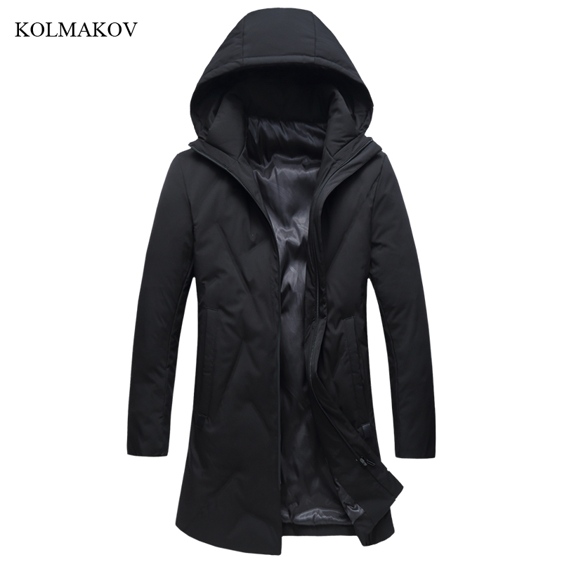 New Arrival Winter Style Men Boutique Leisure Long   Down     Coats   High Quality Hooded Hat Solid Thick   Down     Coat   Plus Size XL-8XL