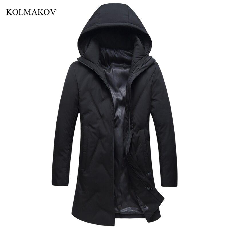 Nouveauté hiver Style hommes Boutique loisirs Long bas manteaux haute qualité à capuche chapeau solide épais bas manteau grande taille XL-8XL