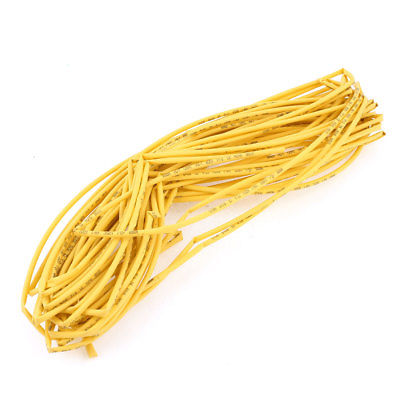Ratio 2:1 Yellow Polyolefin3mm Dia Heat Shrink Cover Wire Shrinkable Tube 20M ratio 2 1 7mm dia yellow polyolefin heat shrinkable tube 10m