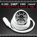 D636WB H.265 IP POE Câmera de 2MP ONVIF Vandalproof IP66 Câmera Dome CCTV Indoor & Outdoor NightVision P2P Vigilância Cam 1080 p