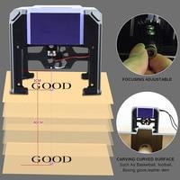 1000mW Miniature Laser Engraving Machine Carving Engraver Carver AC100 240V Automatic DIY Handicraft Wood Burning Tools