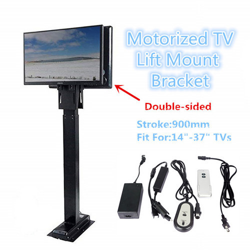 New Tv Lift Double Sided Fit For 14 37 Inches Tvs 900mm Stroke Restaurant Order Meals Us Eu Plug